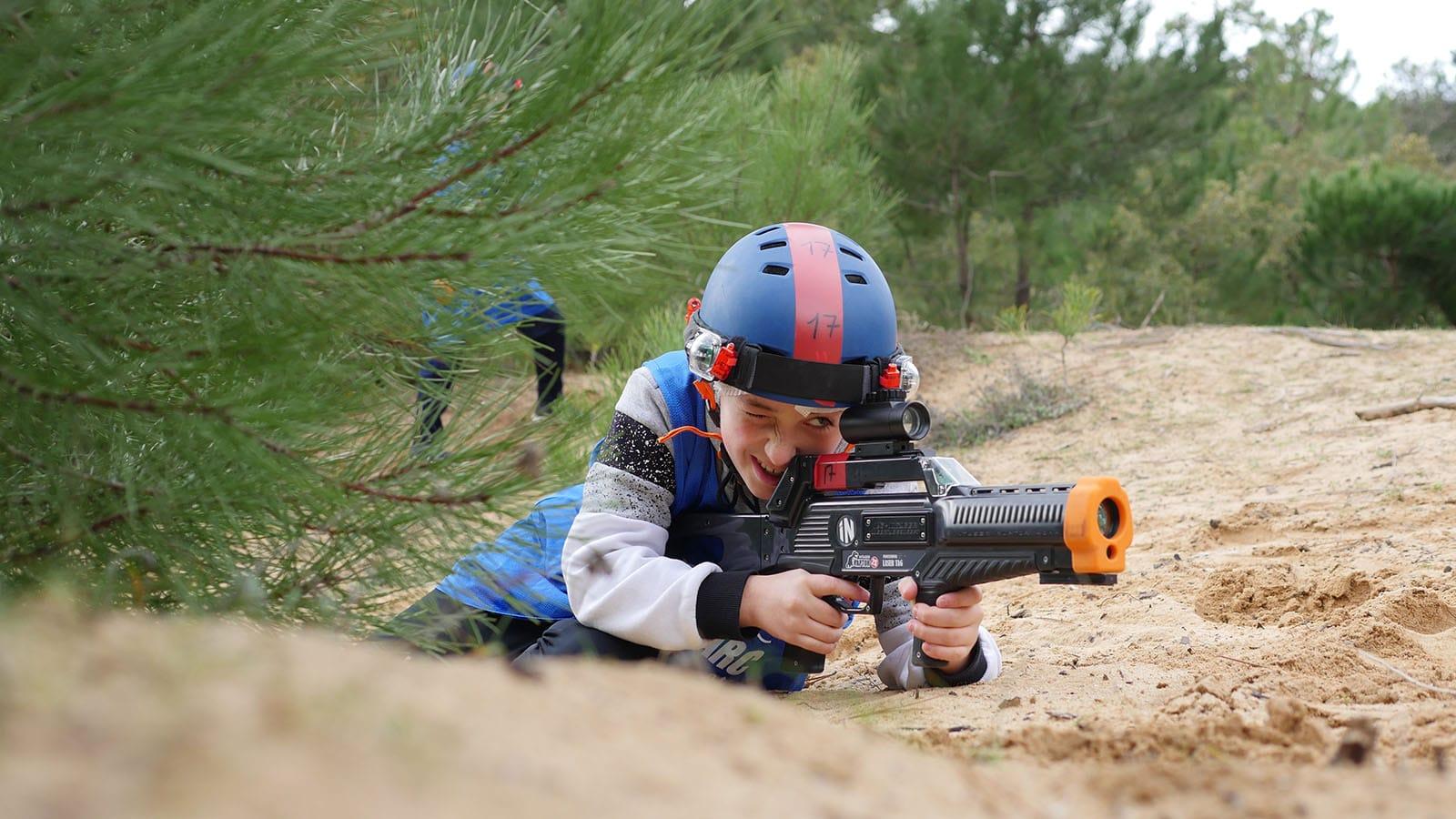 Activités sports nature, laser tag, michel arnaud