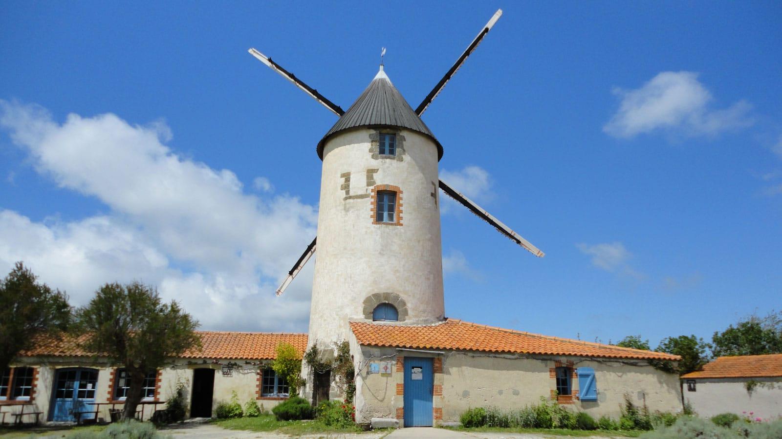 Visiter en Vendée, moulins